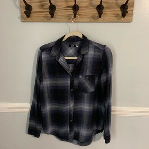 BDG blue and Black Flannel Shirt